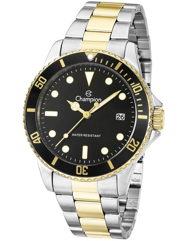Relógio Champion Masculino Prata Dourado Original CA31266P