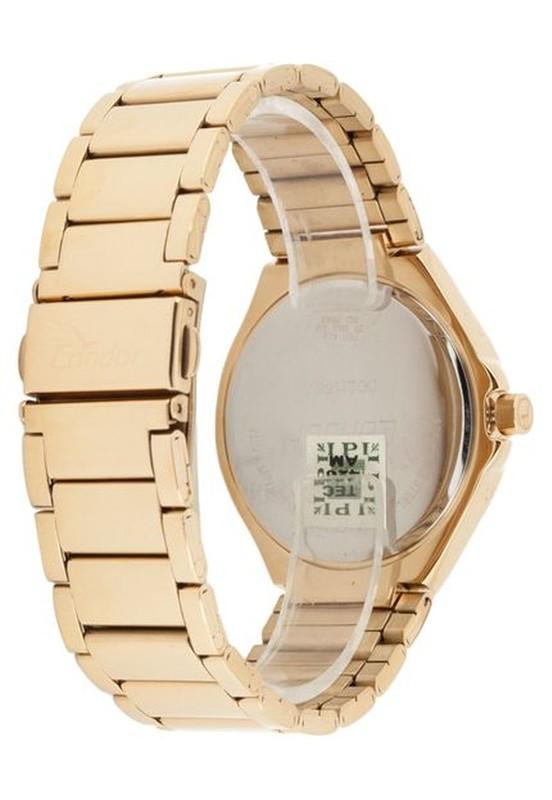 Relógio Condor Feminino Dourado co2115sv/k4p Kit + Semi Jóia