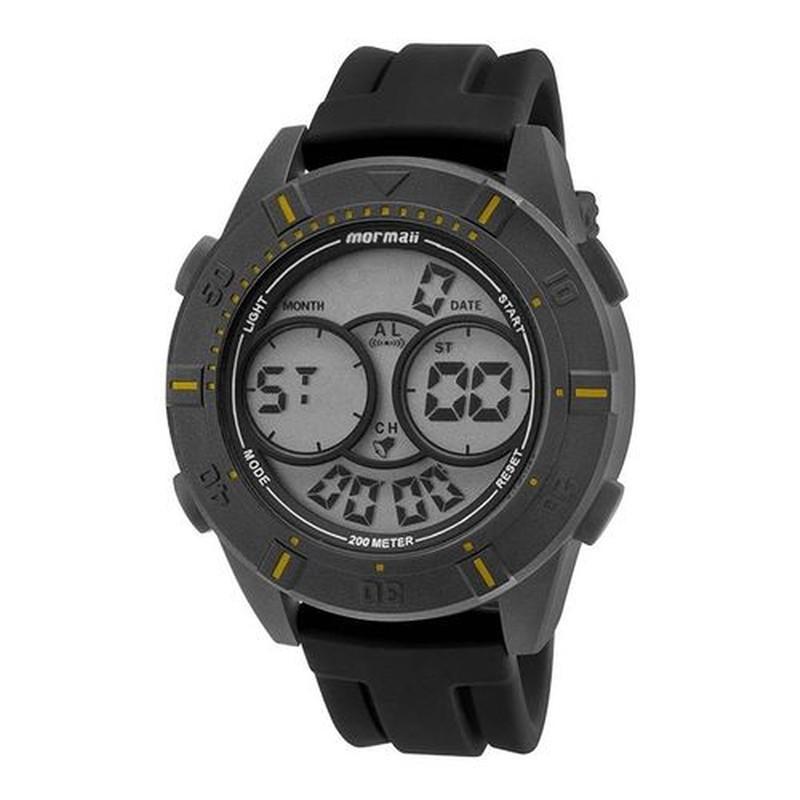 Relógio Masculino Mormaii Acqua Mo150915ae/8y Preto Silicone