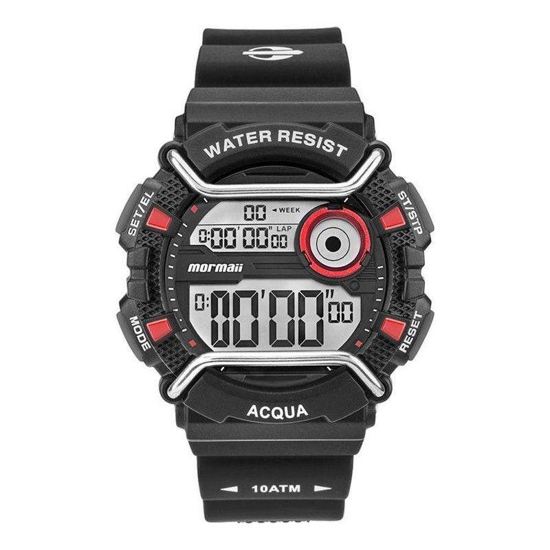 Relógio Masculino Mormaii Acqua Preto Pulseira Silicone MONXD/8R