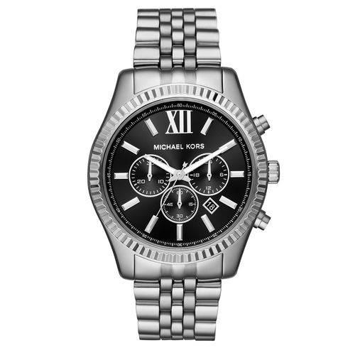 Relógio Michael Kors Essential Lexington Feminino mk8602/1kn Cronógrafo Prata
