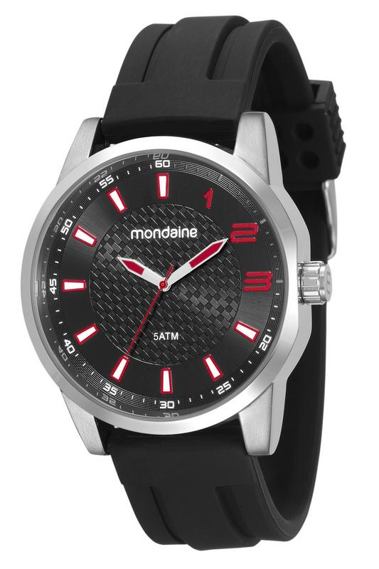 Relógio Mondaine 53526g0mvnl1 Masculino Silicone Prateado