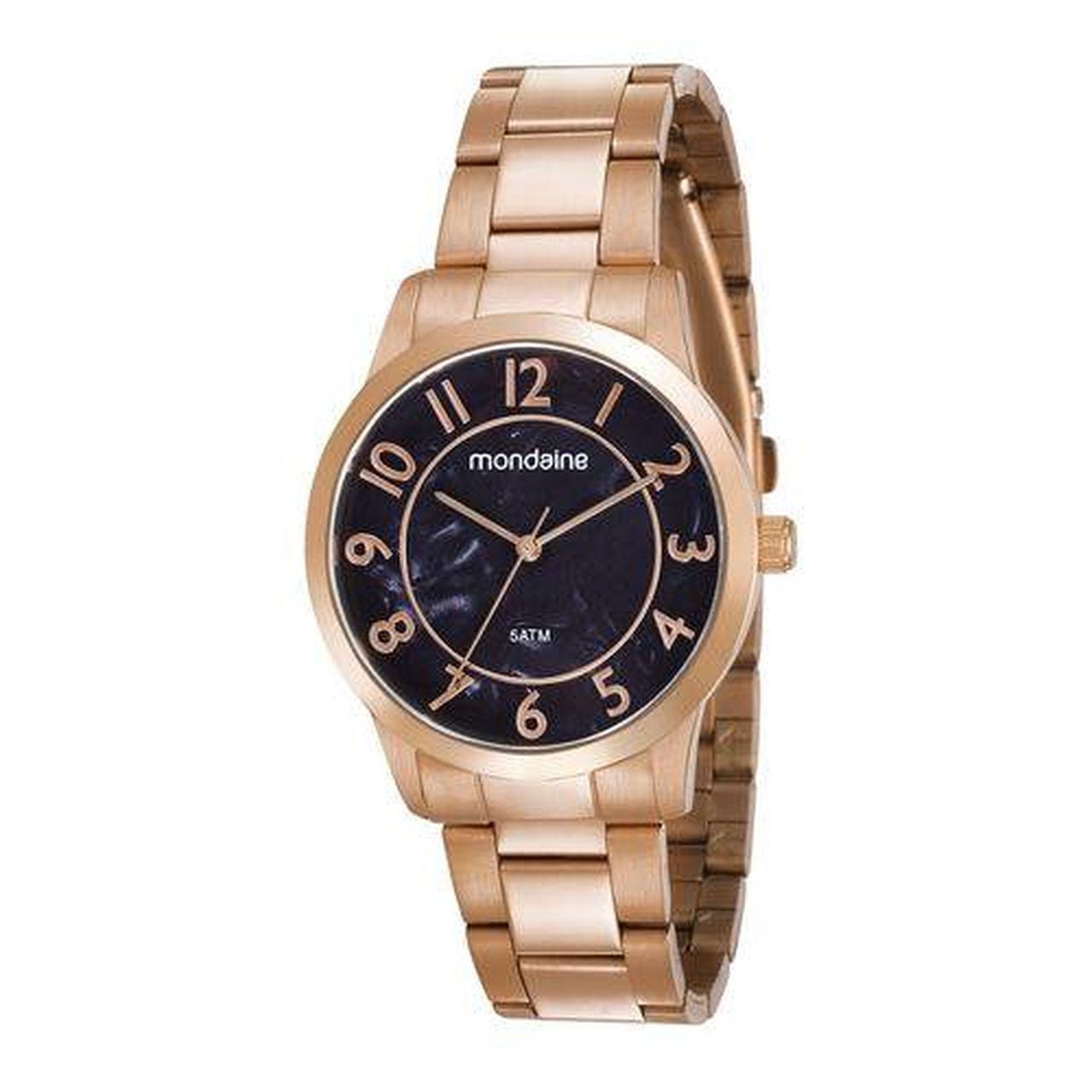 Relógio Mondaine 53638lpmvre1 Feminino Gold Rosê com Kit Semi Jóia