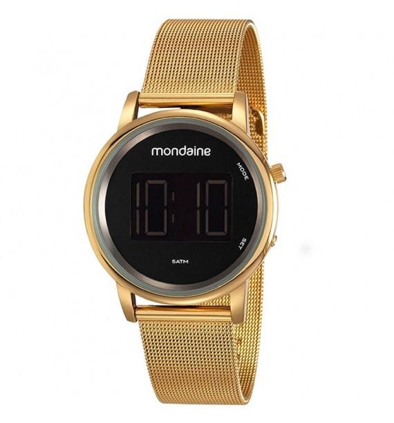 Relógio Mondaine Feminino 53787lpmvde1 Digital Dourado