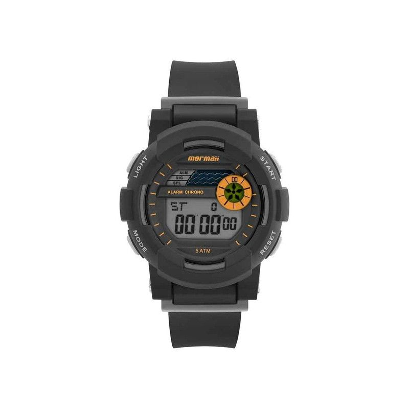 Relógio Mormaii Infantil NXT Preto Pulseira Silicone MO9081AA/8L