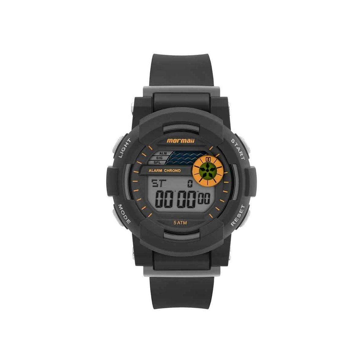 Relógio Mormaii Infantil NXT Preto Silicone MO9081AA/8L