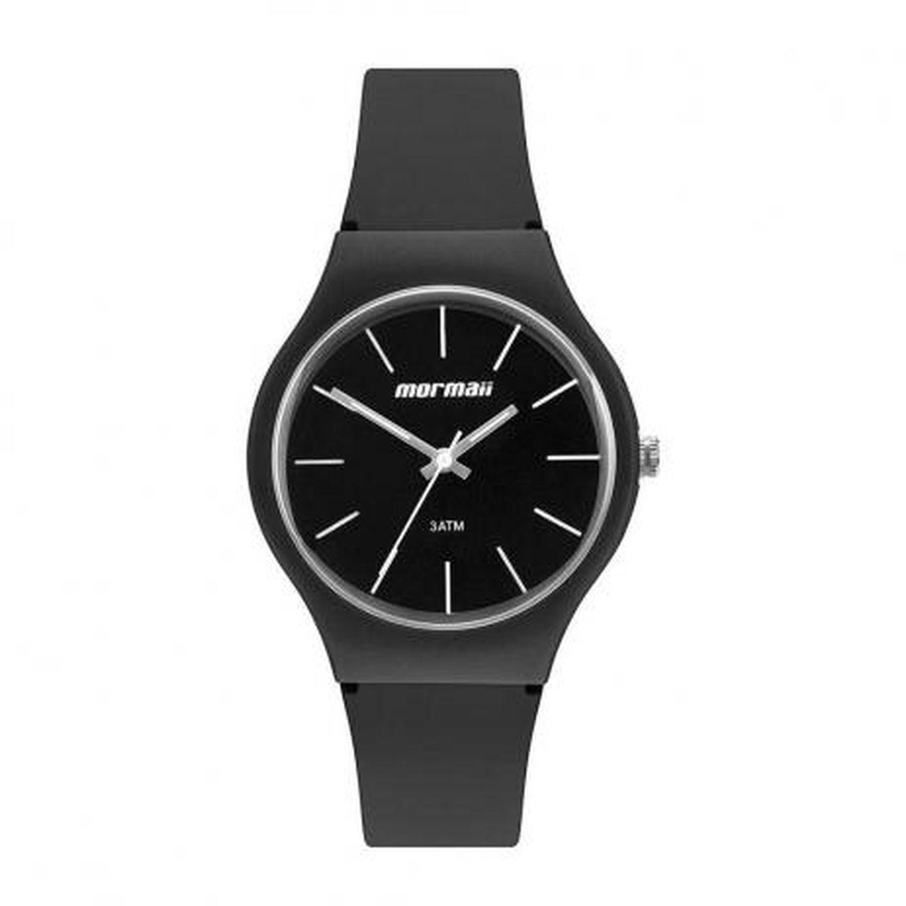 Relógio Mormaii Mo2035jw/8c Wave Unissex Casual Preto