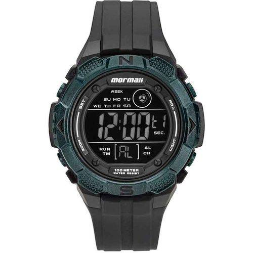 Relógio Mormaii Mo2908aa/8v Masculino Esportivo Digital Preto com Verde Militar