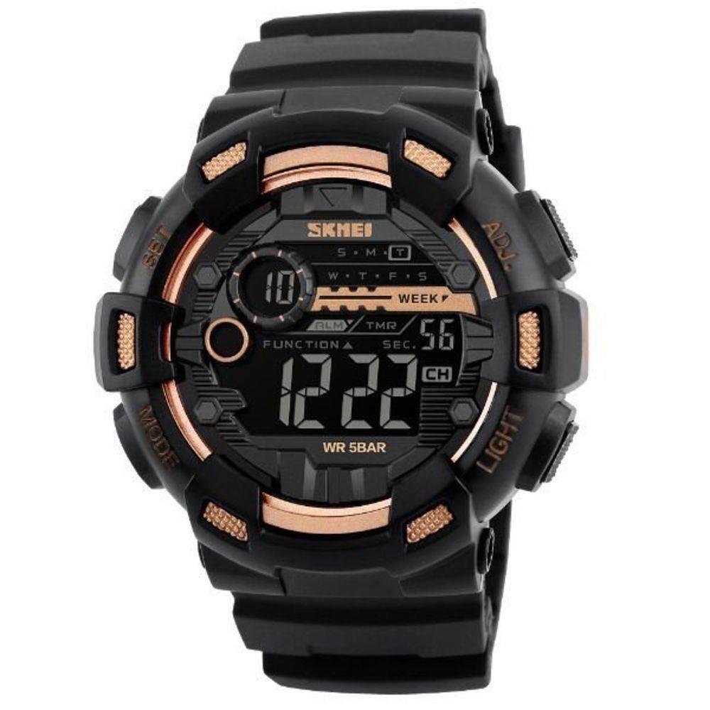 Relógio Skmei 1243 digital dourado