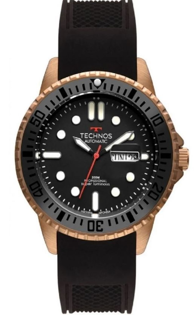 Relógio Technos Masculino Professional Super Luminous Bronze 8205OH/8P
