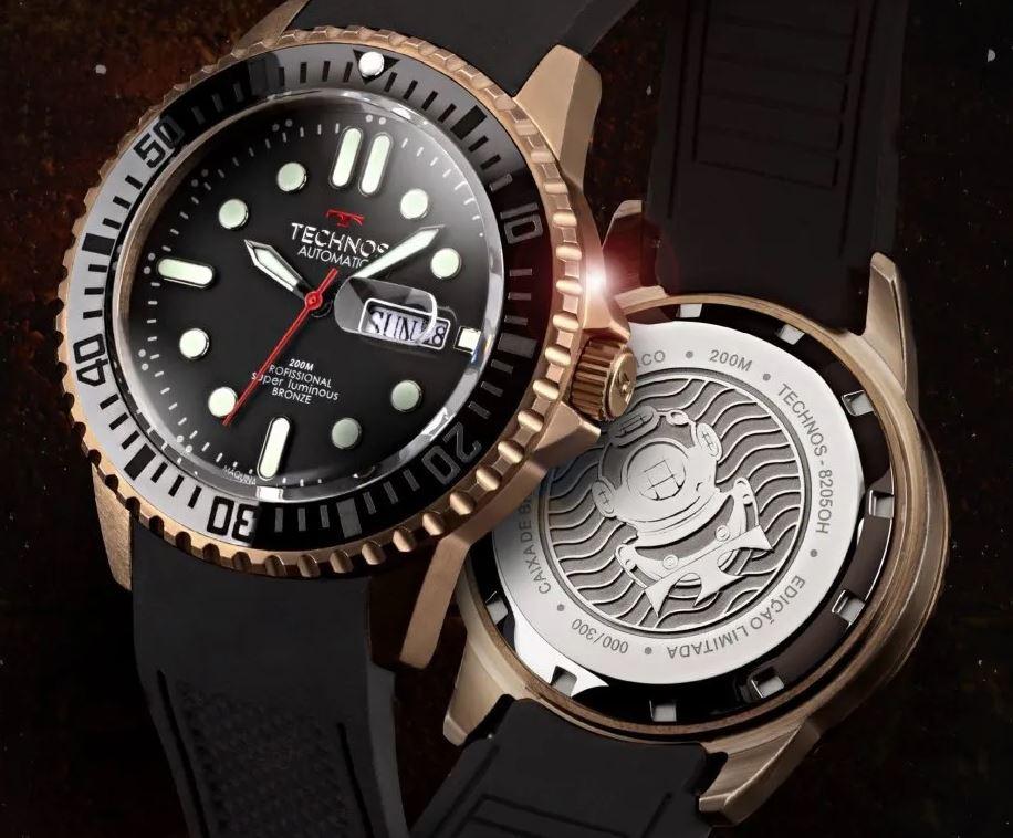 Relógio Technos Masculino Professional Super Luminous Bronze 8205OH/8P