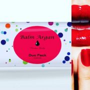 Duo Manicure / Pedicure -Duplo Balmargan Kit descartavel Luva Sapatilha Lixa e Palito  Balm Argan