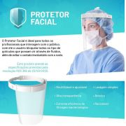 Mascara Protetor Facial Face Shield  0,5mm