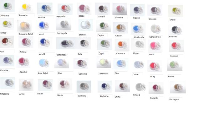 Conjunto de 10 corantes hidrossolúvel Lully Candy 1,9 g cada