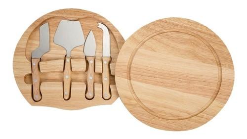 Kit Queijo 5 peças - tabua em madeira