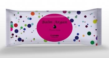 Kit de manicure: par luvas hidratantes +lixa tipo exportaçao e palito de Bambu  Balm ARGAN