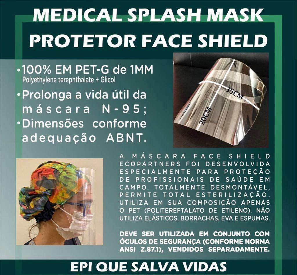 Mascara Protetora Face Shield Epi Abnt Nbr 16360:2015