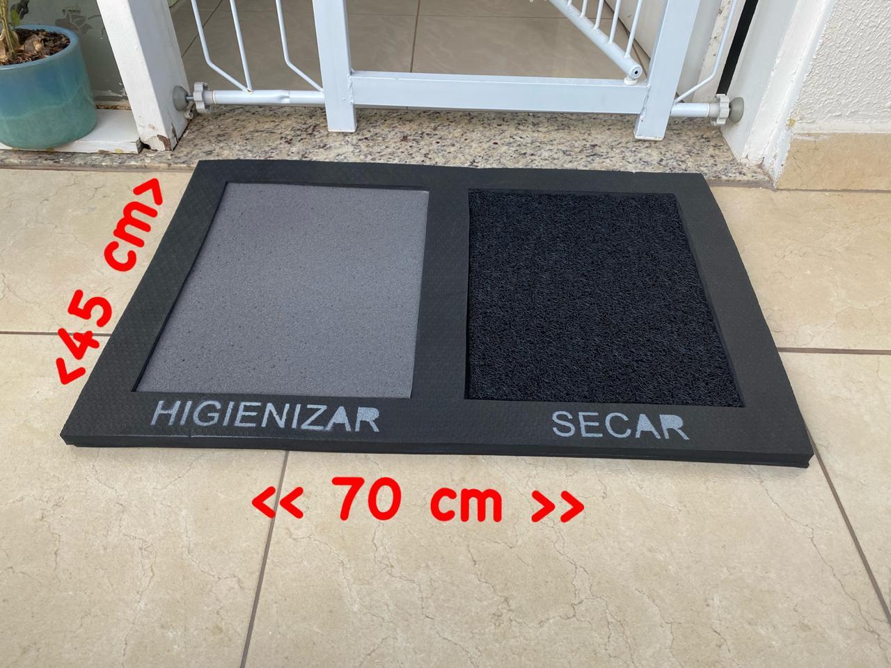 Tapete Higienizador Desinfeta Covid Clean 3 em 1