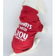 Blusa de Moletom para cachorro Always- Vermelho