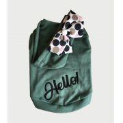 Blusa De Moletom para Cachorro Hello- Verde