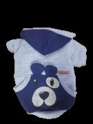 Blusa De Moletom para Cachorro Rostinhos - Cinza Marinho