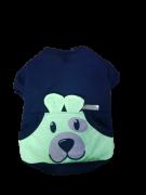 Blusa De Moletom para Cachorro Rostinhos - Neon Preta -Sem Touca