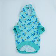 Blusa de Moletom para Cachorro Tubarão- Verde