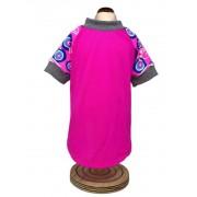 Camiseta UV Fator 50 Rosa