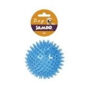 Brinquedo para Cachorro Bola TPR Espinho com Som - Pequena - Laranja, Roxo, Azul e Laranja