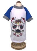 Camiseta Caveira Mexicana Dog Azul