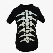 Fantasia para Cachorro Camiseta Esqueleto