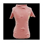 Camiseta Rasgada Rosa