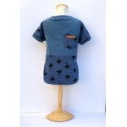 Camiseta Tropical Azul