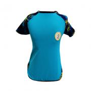 Camiseta para Cachorro Proteção UV Azul