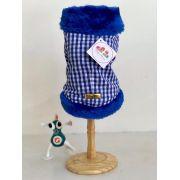 Casaco Quadriculado Azul