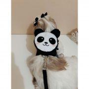 Coleira Peitoral Mochila para Cachorro - Panda