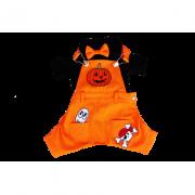 Fantasia para Cachorro Jardineira Halloween Macho