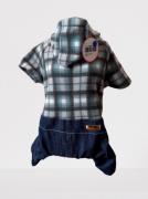 Macacão Xadrez com Jeans