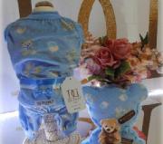 Pijama Azul/Urso com Travesseiro