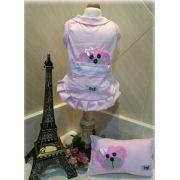 Pijama para Cachorro Regata Rosa