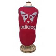 Regata Adidog Vermelha -Proteção UV 50
