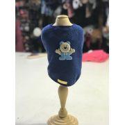 Roupa De Plush-Azul Ursinho