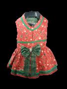 Vestido para Cachorro Laço Verde - Natal