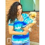 T-Shirt Tie Dye Acqua- Tal mãe + Tal Pet