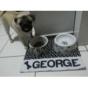 Tapete para Potes de Cachorro Personalizado com Nome
