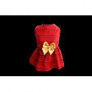 Vestido Chevron Vermelho Natal