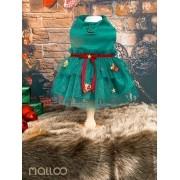 Vestido Gifts Verde (Natal)