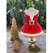 Vestido Mamãe Noel Cinto (Natal)