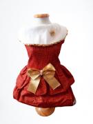 Vestido Natal Traços Dourados
