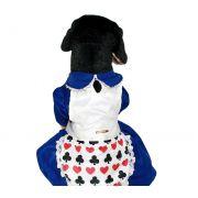Fantasia para cachorro - Vestido Alice no Pais das Maravilhas